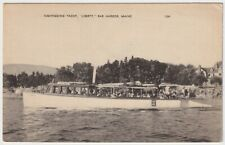 "Sightseeing Yacht, ""Liberty"", Bar Harbor, Maine - Antique Postcard"