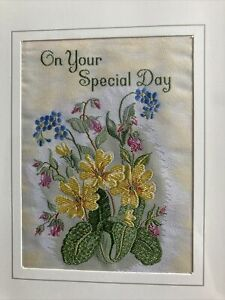 Cash's Silk Framed Picture ' On Your Special Day' Flowers