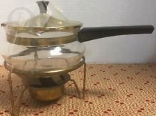 Vintage-Mid Century Modern-Glass Pot with Candle Warmer- 17315D S87