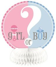 Gender Reveal Baby Shower Girl or Boy Party Honeycomb Centrepieces 1-24pk