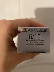 Teinture coloration cheveux Wella Illumina color 6/19