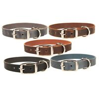 "Heavy Duty Leather Dog  Collar_Medium, Large, XL_1"" Wide_Amish Handmade"