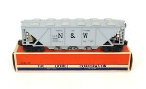 Postwar Lionel 6446 Gray Norfolk & Western Covered Hopper~Mint Unrun~w/Nice OB