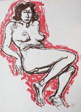"""REMO SQUILLANTINI Litografia """"Donna Nuda"""" cm. 50x70 es. 9/70 FIRMATA"""