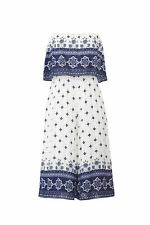 somedays lovin Women's Jumpsuit White Size Small S Floral Popover $139- #260