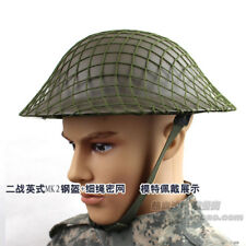WWII WW2 UK British Army Mk2 Brodie Steel Helmet & Camouflage Net