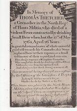 Hampshire, Thomas Fletcher Memorial, North Reg. of Hants Militia Postcard, A732