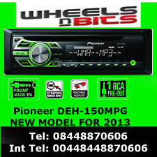 PIONEER DEH-150MPG CD MP3 WMA AUX IN STEERING CONTROL READY GREEN NEW
