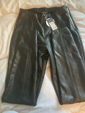 New Look Leather Look Zip Black Skinny Leggings/Trousers Size 14