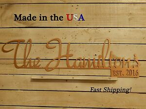 Family Last Name Sign, Est., Wedding Date, Wedding Gift, Anniversary, S1168