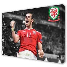 Gareth Bale Wales Logo Real Madrid | Canvas Print Wall Art Photo | 5 Sizes