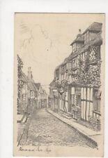 Mermaid Inn Rye 1946 Pencil Sketch Postcard 574a