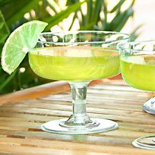 12 X Plastica Trasparente Festa Usa e Getta Margarita Bicchieri da cocktail - 180ml, 6.3oz