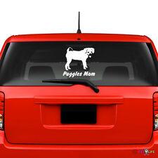 Puggles Mom Windshield Sticker Vinyl Auto Window