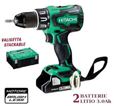 HITACHI TRAPANO AVVITATORE A PERCUSSIONE BRUSHLESS CON 2 BATTERIE LITIO 18V 3Ah