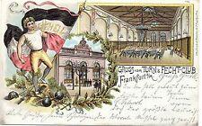 Frankfurt / Main, Turn- u. Fecht Club, Farb-Litho, 1898