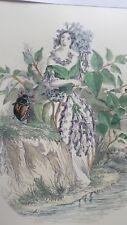 Illustration de Grandville - Fleurs Animées - Lilas -