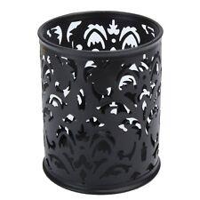 Metal Pen Holder Pen Pot Hollow Flower Pattern Round LW