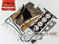 CORSA C & D 1.2 16v ENGINE TIMING CHAIN KIT HEAD GASKET SET HEAD BOLTS TOOL KIT