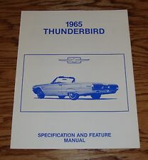 1965 Ford Thunderbird Specification & Feature Manual Brochure 65