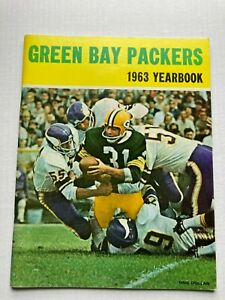 SCARCE 1963 GREEN BAY PACKERS YEARBOOK, SUPER CLEAN ESTATE FIND FREE SHIPPING