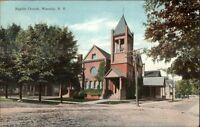 Waverly NY Baptist Church c1910 Postcard