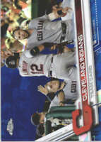CLEVELAND INDIANS 2017 TOPPS CHROME SAPPHIRE EDITION #122 ONLY 250 MADE