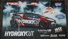 2015 Nelson Piquet, Jr. signed Ford Fiesta ST Global Rallycross postcard