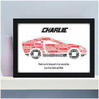 Wedding Day Gift Personalised Car Word Art Print - Page Boy Usher Best Man Gifts