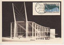 CARTE MAXIMUN  FRANCE TIMBRE N° 1156  EXPOSITION  DE BRUXELLES