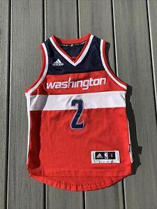 Adidas Boy's Sz S Swingman Washington Wizards #2 John Wall Jersey ~Red/Wht/Blue~