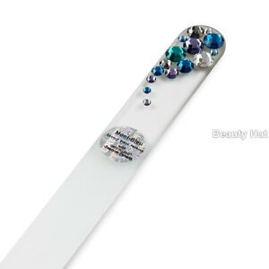 Crystal Glass Nail File Hand Decorated with Crystals from Swarovski - Bubbles