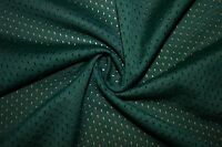 Forest Green Athletic Sports Mesh Knit Polyester Football Jersey Fabric BTY