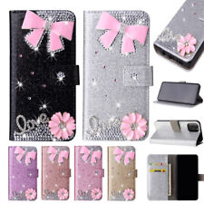 Bling Bow Leather Wallet Phone Case Cover For Samsung J3 4 J5 J6 J7 J8 Note 9 20
