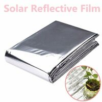 2Pcs Silver Garden Wall Mylar Film Covering Sheet Hydroponic Highly Reflective