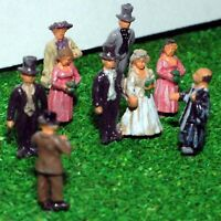 White Wedding Bride Groom A75 UNPAINTED N Gauge Scale Langley Models Kit Figures
