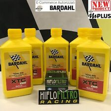 5 Litri Bardahl Bardhal Xtc C60 10w50 Olio Moto 4T Full Sintetico + Filtro HiFlo