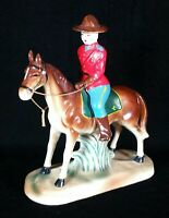 Royal Canadian Mounted Police & Horse Hand Painted Figurine RCMP