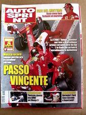 AUTOSPRINT n°8 2007 Michael Schumacher ;Mondiale Rally Seb LOEB    [P53]