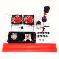 PC Liquid Water Cooling Complete Kit 240mm Radiator CPU GPU Block Reservoir LED