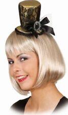 Mujer Dorado Sexy / Encaje Negro Steampunk Burlesque Mini Sombrero Disfraz