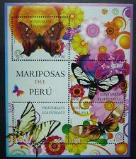 Peru 2013 Schmetterlinge Butterflies Mariposa Insekten Block Postfrisch MNH