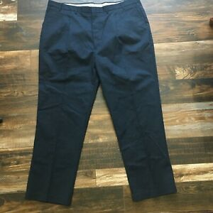 Edwards Security Uniform Pants Mens 46x32 Navy Blue Textured Twill Pleated