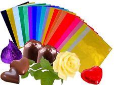 Pralinenfolie farbig sortiert Einwickel Alufolie Lebensmittel 50gr./Pck 80x80mm