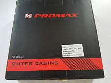 Promax Bremshülle Schwarz 5mm und 30 Meter mit Teflon Fahrrad Karton