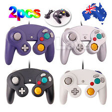 OZ New 2x Gamecube Controller Dual Shock Gamepad Joypad For Nintendo Wii GC NGC