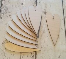 Pack of 10 laser cut east of india style hearts unpainted - valentine wedding