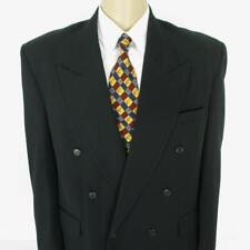 44 R (42 R) Raspinni Black Wool Double Breasted Mens Jacket Sport Coat Blazer