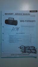 sharp wq-t370 service manual original repair book boombox ghettoblaster radio cd