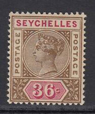 Seychelles QV 1897 36c brown & carmine SG32 mounted mint